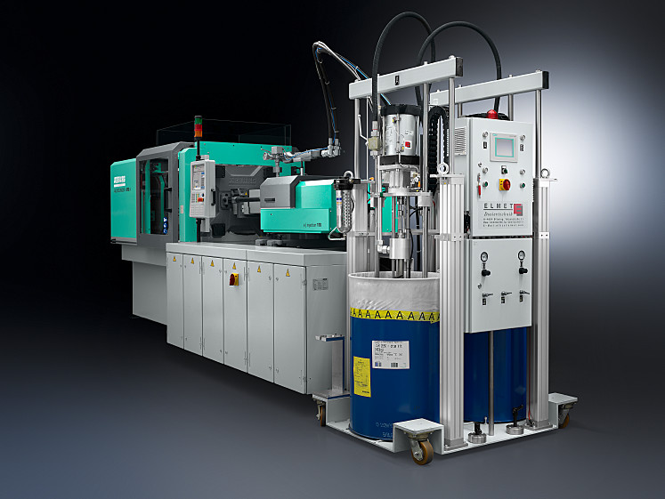All from a single source: ALLROUNDER injection molding machine tailored to the application, including dosage, vacuum and demolding technology