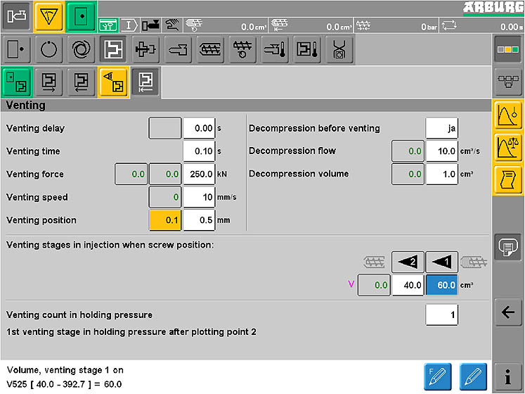 Reliable venting: sequence can be individually programmed via the SELOGICA control system.