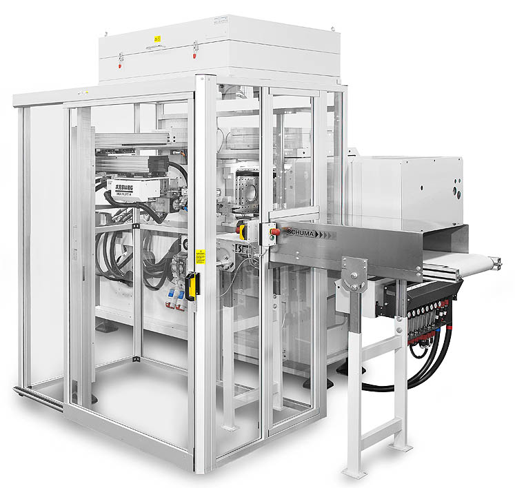 Packet solution: machine with automation, guarding and clean air modules
