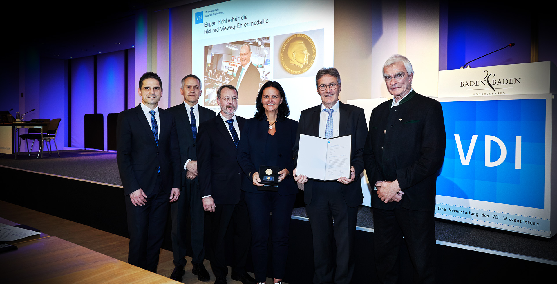 Eugen Hehl receives award