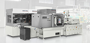 GMP-compliant: Electric ALLROUNDER 520 A injection moulding machine and automation in stainless steel design meet the highest hygiene requirements