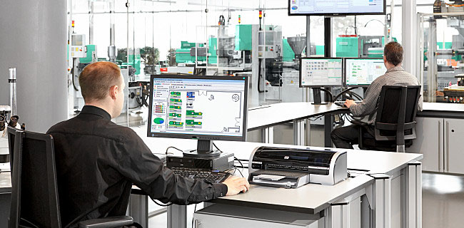 The whole production process fully under control at a glance thanks to the ARBURG host computer system (ALS)