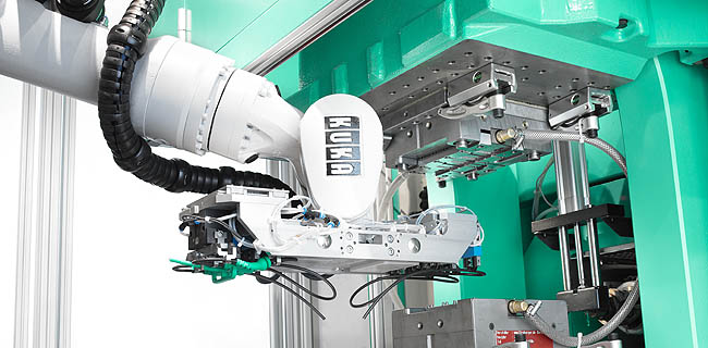 Even complex components such as cables can be prepared and precisely inserted through the use of six-axis robotic systems
